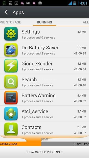 Gionee Elife E5 Apps
