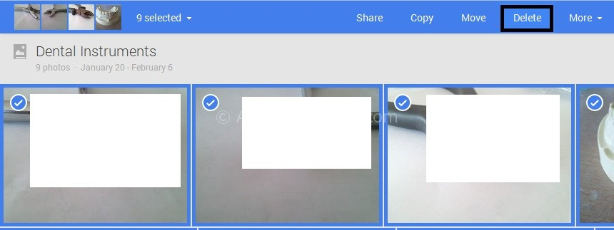 Google Plus Photos Delete