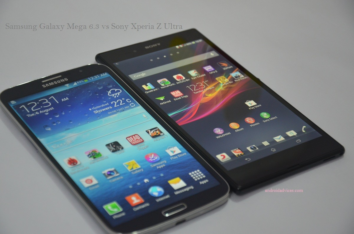 Samsung Galaxy Mega vs Sony Xperia Z Ultra