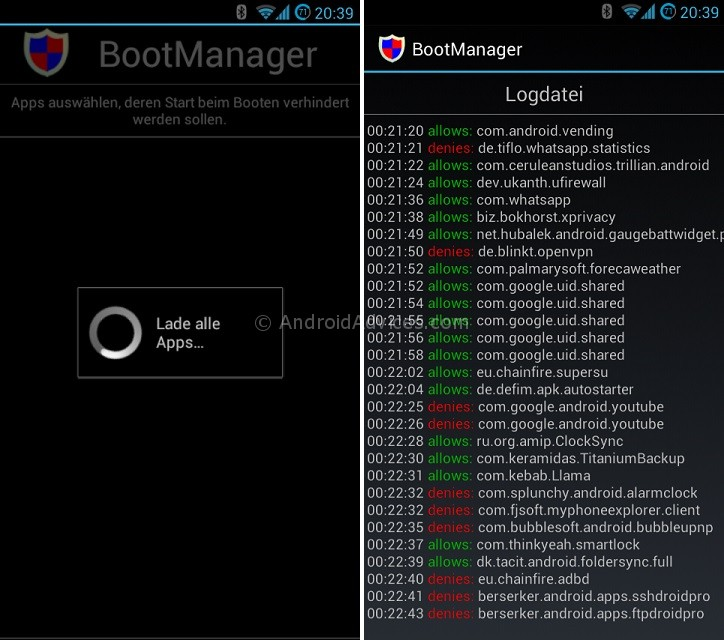 Android BootManager App