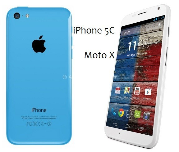 Apple iPhone 5C vs Moto X