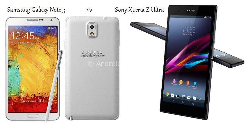 Samsung Galaxy Note 3 vs Xperia Z Ultra