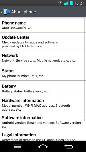 LG G2 About Phone