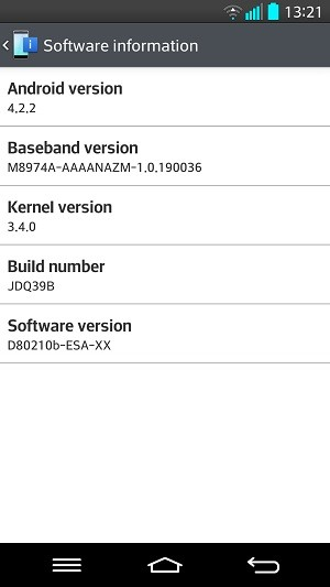 LG G2 Android Version