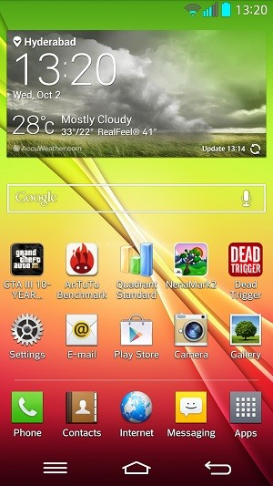 LG G2 Home Screen