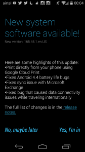 Moto X Android 4.4.2 Update