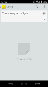 Nexus 5 Kitkat Notes App