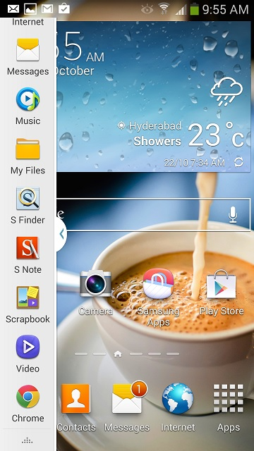 Note 3 Multi Window Bar