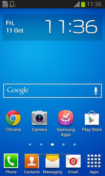 Samsung Galaxy Trend Interface Home Screen