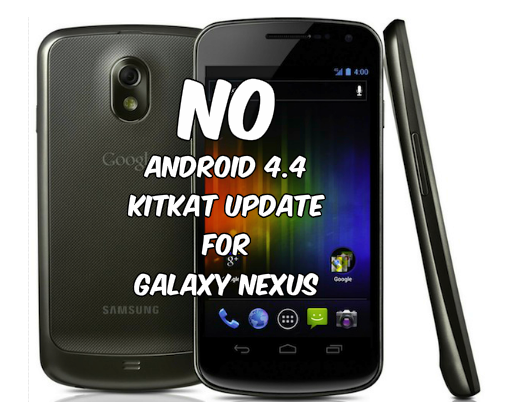 Galaxy Nexus no KitKat Update