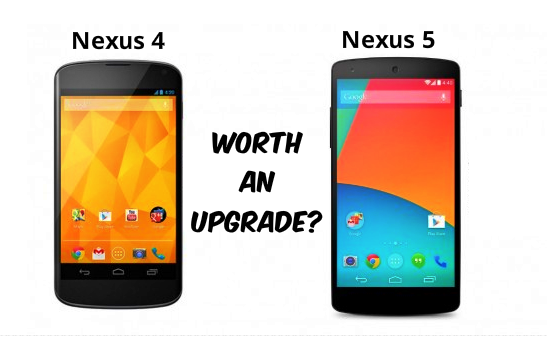 Nexus 4 and 5