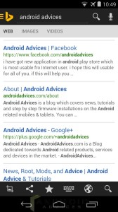 Bing Android App Search