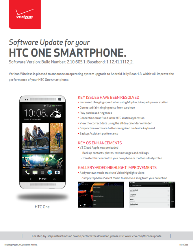HTC One Software Update pdf
