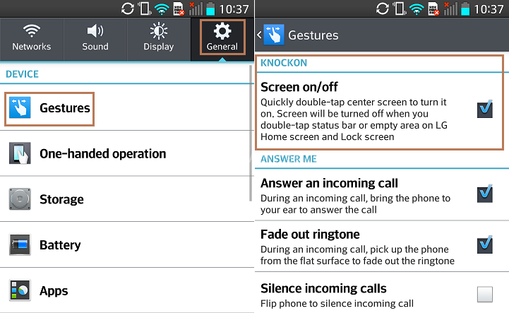 LG G2 KnockOn - 20 Tip for LG G2 – Hidden Options, Useful Features