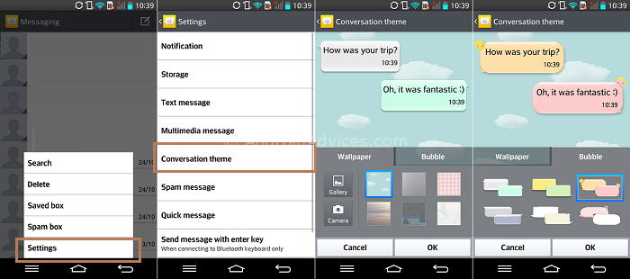 LG G2 Messaging Theme