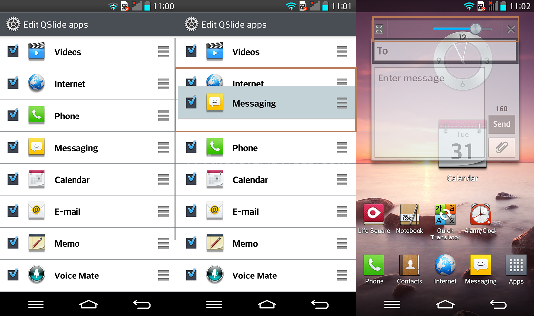 LG G2 QSlide Edit - 20 Tip for LG G2 – Hidden Options, Useful Features