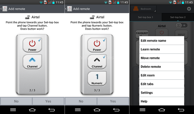 LG G2 QuickRemote Settings