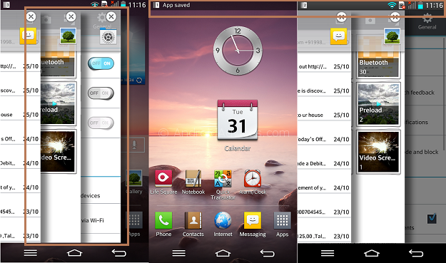 LG G2 Slide Aside - 20 Tip for LG G2 – Hidden Options, Useful Features