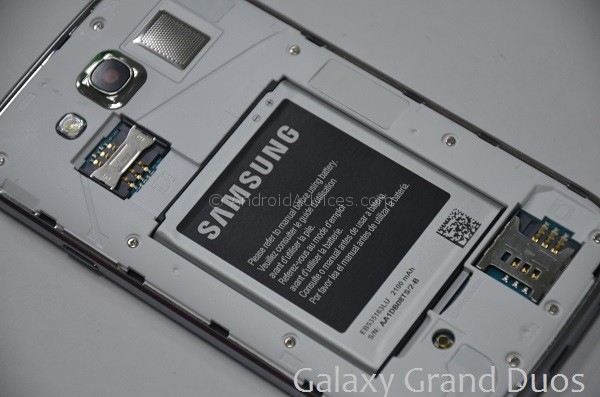 Galaxy Grand Duos Back Section