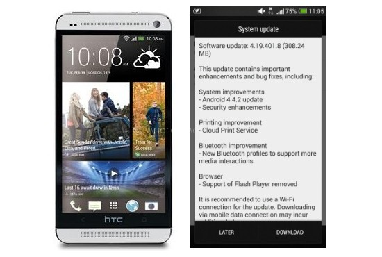 HTC One Europe update