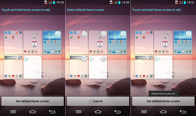 LG G2 Default Home screen