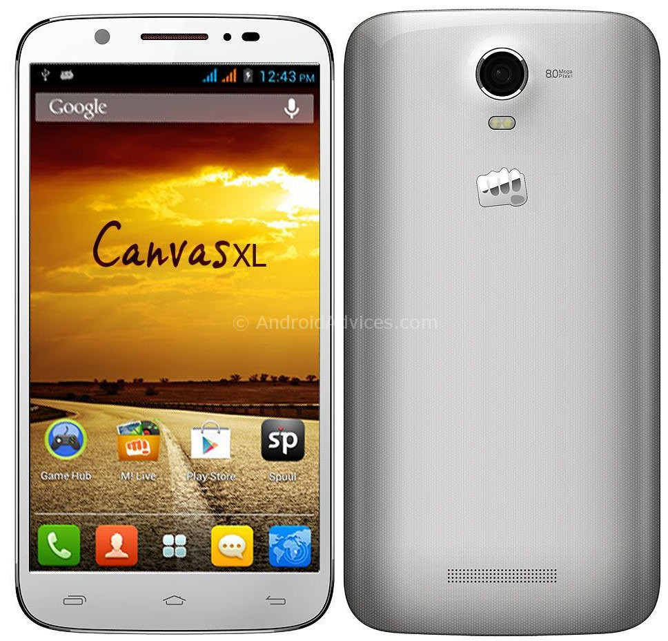 Camera Micro Max Android Phones micromax canvas xl a119 android phone with 6 screen for rs 13990 xl
