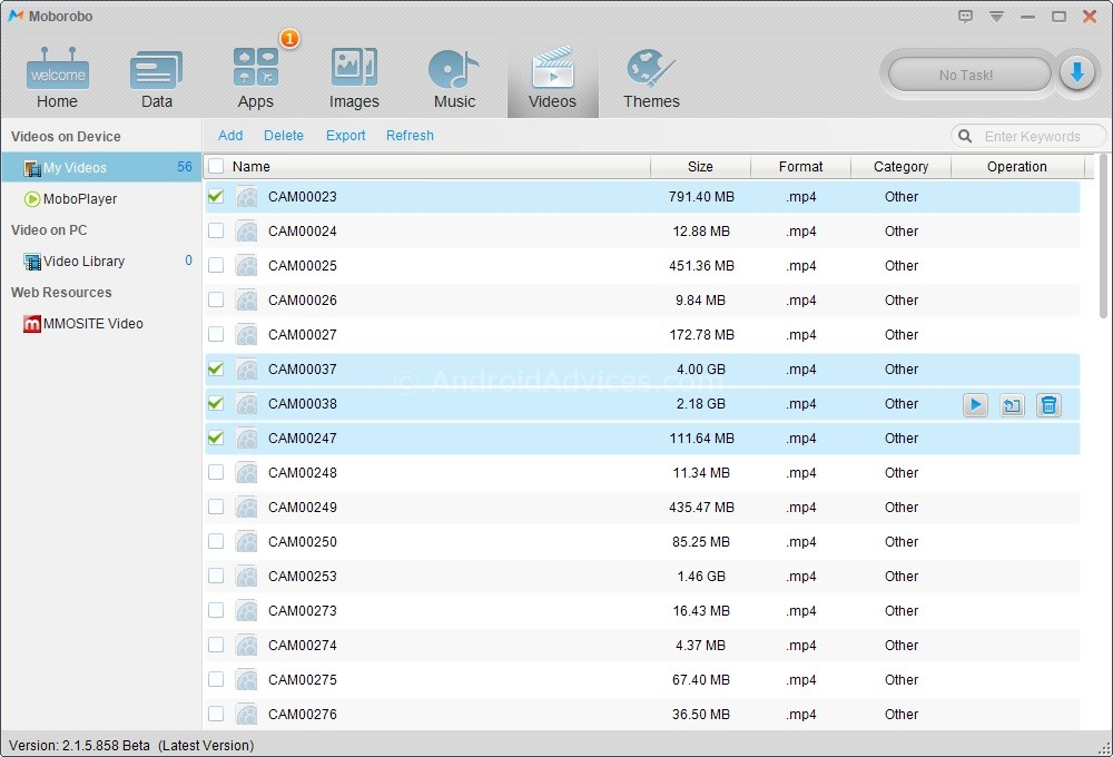 Moborobo Video Manager