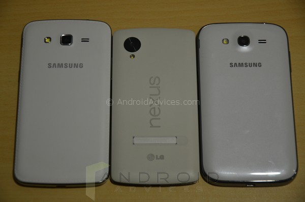 Samsung Galaxy Grand 2 vs Grand vs Nexus 5 Back