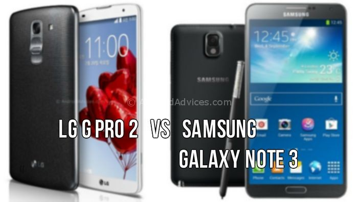LG G Pro 2 vs Galaxy Note 3