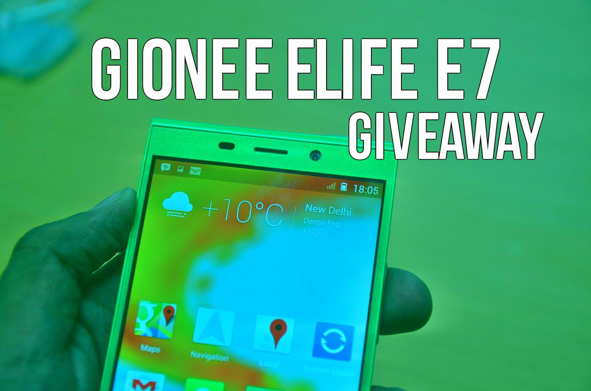 Gionee Elife E7 Giveaway AA