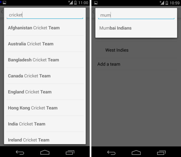 Google Now Cricket Score
