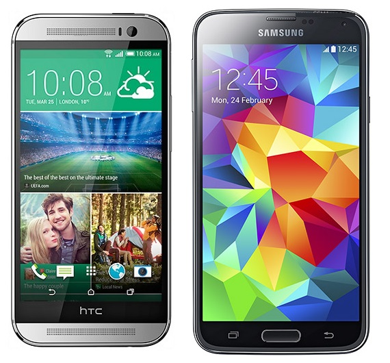 HTC M8 vs Samsung Galaxy S5