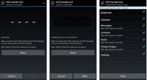 How to transfer data and content from old phone to new htc smartphone