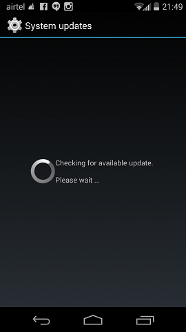 Moto X Checking Android Update
