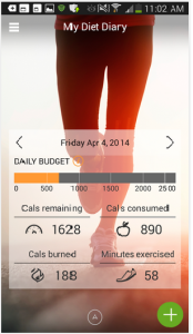 My Diet Diary Calorie Counter 1