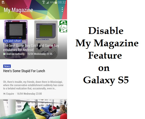 Disable My Magazine S5
