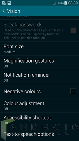 Galaxy S5 Magnification Gestures