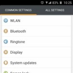 Gionee Elife E7 Interface Common settings
