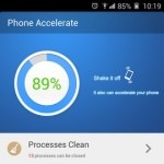 Gionee Elife E7 Interface Phone accelerate
