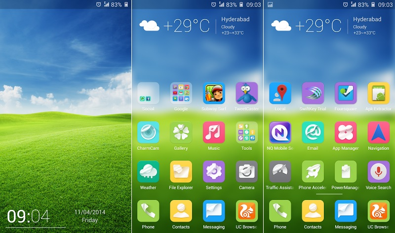 Gionee Elife E7 New Theme