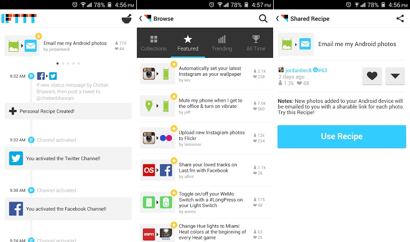 IFTTT Android App