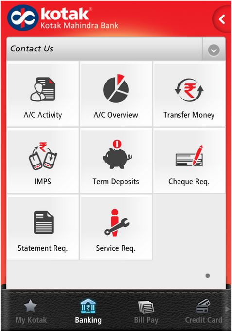 Kotak Mahindra Bank App For Android Features Problems