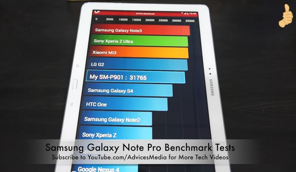 Samsung Galaxy Note Pro Benchmark
