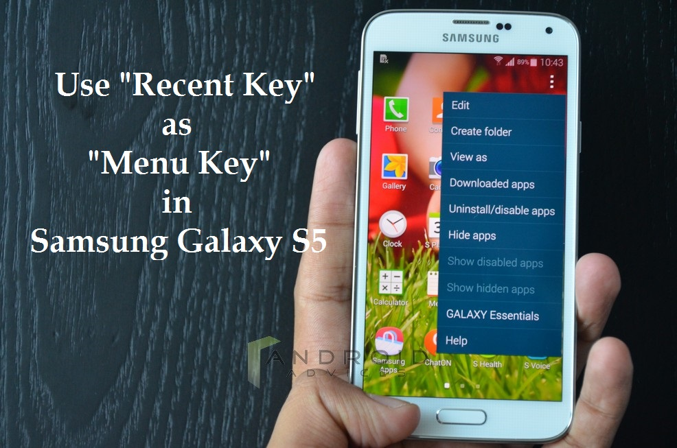 Samsung Galaxy S5 Menu Button