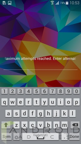 Samsung Galaxy S5 Screen Unlock Alternative
