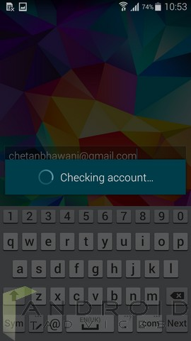 Samsung Galaxy S5 Screen Unlock Checking Account