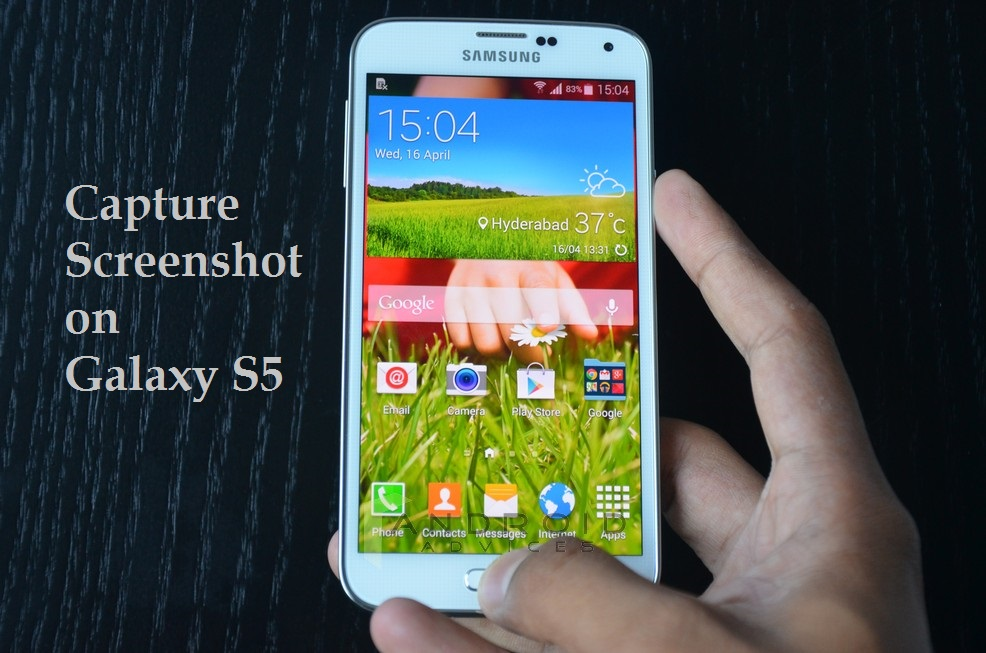 Samsung Galaxy S5 Screenshot Physical Keys