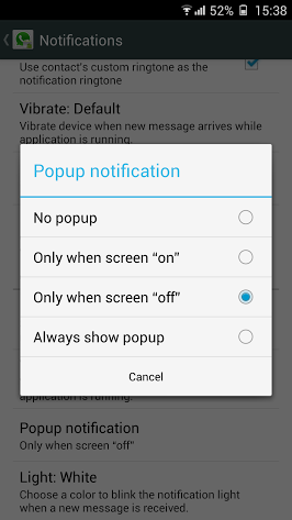 WhatsApp Popup Notifications