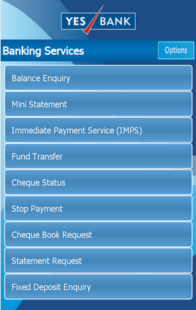 Yes Bank Android app services1