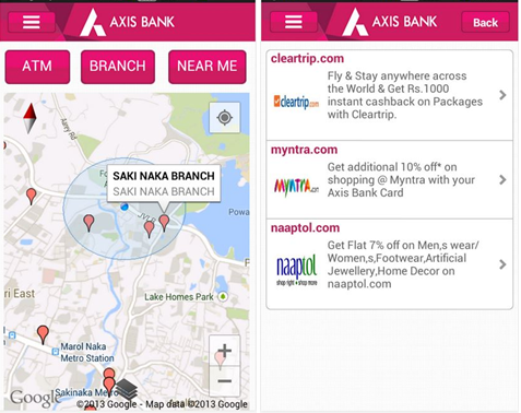 axis bank android application